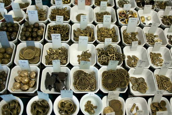 An eclectic selection of brass charms