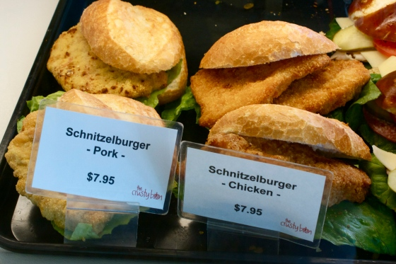 Pork and Chicken Schnitzelburgers